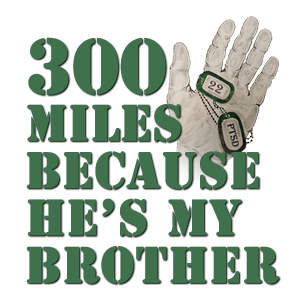 300 Miles Because He's My Brother Logo